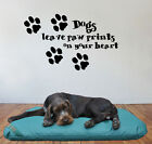 Dogs leave paw prints on your heart Giant Wall Art Mural,Large,Decal,Sticker,204