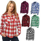 URBAN CLASSICS DAMEN CHECKED FLANELL SHIRT HEMD HOLZFÄLLER BLUSE TOP  XS - XL
