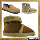 New Warm Mens Coolers Snugg Microsuede Fur Slipper Ankle Boot Shoes Size UK 7-12
