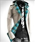 HOT Men Fashion Slim Fit Hooded Casual Trench Coat Jacket Outwear New COAT