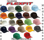 BRAND NEW CLASSIC PLAIN FLEXIFIT FITTED FLEXFIT BASEBALL HATS CAPS *22 COLOURS
