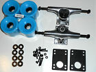 PACK TOP MOUNT 5.0 TRUCKS 70MM WHEELS ABEC 7 BEARINGS SKATEBOARD LONGBOARD SKATE