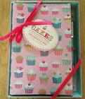 PRETTY CUPCAKES ORGANISER - DIARY / ADDRESSES  / NOTES & BALLPOINT PEN GIFT SET