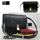 Women's Handbag Real Italy Calfskin Leather LG CLASSIC BOX Shoulder Bag Purses