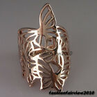 New Unique Rose Gold GP Hollowed-out Butterfly Pattern Cocktail Ring VR163A