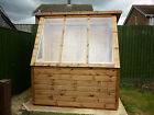 6X4 HEAVY DUTY  WOODEN T&G POTTING SHED GREENHOUSE + FITTING