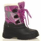 GIRLS WINTER KIDS FUR SNOW MOON MUCKER SCHOOL  WELLINGTON WELLIES BOOTS SHOES