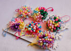 "1×Baby/girls Bouquet Loopy puffs Ribbon 2.5"" Hair ties Alligator clips Hair Bows"