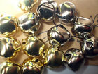 pack of 10 Gold or Silver Colour Jingle Bells Jewellery embellishment Christmas