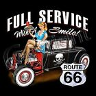 FULL SERVICE DRIVE IN RAT ROD HOT ROD ACCENT THROW PILLOW MAN CAVE GAME ROOM