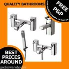 Single Lever Mixer Bath Taps Tap Bathroom Chrome Shower Sink Modern New