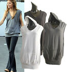 h100 CELEBRITY style Soft cotton sleeveless kangaroo pocket hoodie
