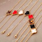 Fashion Retro Simple Elegant Sexy Clover Heart Leopard Pendant Bracelet Bangle