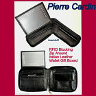 New PIERRE CARDIN Mens Bifold Genuine Leather Wallet w/clip Coin Pocket Gift Box
