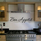 BON APPETIT WALL ART STICKER QUOTE KITCHEN FAMILY DINING 56CM LONG HOME DECOR