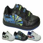 BOYS KIDS VELCRO TRAINERS CASUAL SCHOOL PE PUMPS GIRLS SHOES PARTY BOOTS SZ 8-2