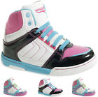 GIRLS ANKLE HI HIGH TOP BOOTS WOMENS LADIES TRAINERS SPORTS GYM CASUAL SHOES NEW