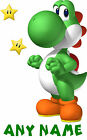 "SUPER MARIO ""** YOSHI ** PERSONALISED A5 T SHIRT TRANSFER for White/Light cotton"