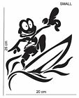 Crazy surfer vinyl sticker surfboard surfing wall vehicle man cave bedroom decor