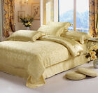 LilySilk 100% Mulberry Silk Fitted Sheet Set-Gold Color-Full Queen King Cal.king