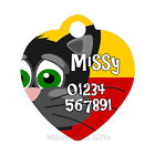 Cartoon Personalised ID Pet | Cat Metal Name Heart Shaped Tag For Collar