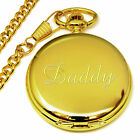 Daddy Engraved Pocket Watch Personalised Wedding Favour Present Birthday Gift