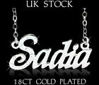 Personalized Name Necklace SADIA 18ct Gold Plated Arabic Jewelery Custom Gifts