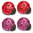 HOT PINK or RED GLITTER LADYBUG STUD or CLIP ON EARRINGS