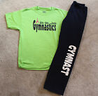 "Gymnastics ""GYMNAST"" Navy, Black or Grey Sweatpants with Lime green shirt"