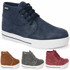 MENS LEATHER SUEDE ANKLE HI HIGH TOP SKATE BASEBALL TRAINERS DESERT BOOTS SIZE