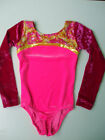 Girls Leotard Long Sleeve Winter Gymnastics Dance Sparkle & Velvet  TRI Colour