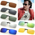 Polarized Clip On Wear Over Sunglass Glasses Eyeglass Spectacle Lens Anti-Glare
