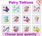 12 - 288 girls FAIRY TATTOOS party bag toy filler reward fun children kids gift