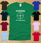 SNIPERS GET MORE HEAD LADIES SHIRT MEDIUM 2nd amendment funny offensive tee M