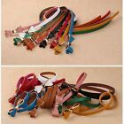 Fashion Lady's Candy Color Bowknot Leather Thin Waistband Belt Butterfly Rosette