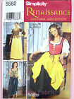 Simplicity 5582 Sewing Pattern Ladies Renaissance Maid Costume Dress