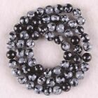 """4-12MM Snowflake Obsidian Round Loose Beads Gemstone 1 Strands/16""""L"""