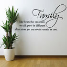 ROOTS REMAIN AS ONE wall quote decal living room family wall stickers