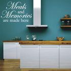 MEALS AND MEMORIES wall quote sticker kitchen dining room vinyl decals