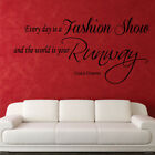 FASHION SHOW RUNWAY wall decal quote girls women bedroom stickers