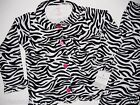 New Girls PJs ZEBRA Pajamas Top Bottom Sleep Ruffle Hem Size 4, 5 Carters