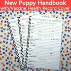 New Puppy Handbooks With Canine Dog Vaccine Health Record Cover  BLUE-GREEN-PINK