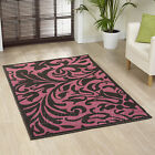 LARGE EXTRA LARGE SMALL WARWICK PURPLE/BLACK SOFT CHEAP COST SOFT AREA RUGS MATS