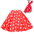 21 PLUS SIZE 18-26 Polka Dot Rock N Roll Skirt Scarf Set 1950s Many Colours UK