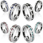 Stainless Steel Eternity Ring Blue, Black, Pink, Aqua Size5,6,7,8,9,10,11,12,13