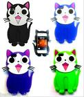 CUTE CATS 3D DESIGN SILICONE GEL RUBBER SKIN CASE COVER  FOR VARIOUS MODELS