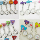 New Fashion Women Nurses Clip-on/Pocket Hanging Doctor Metal Brooch Fob Watch