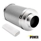 "iPower 4"" 6"" 8"" 10"" 12"" Inch Air Carbon Charcoal Filter Odor Control Inline Fan"