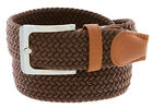 """7001G Men's Fabric Leather Elastic Woven Stretch Belt 1-3/8"""" Wide"""