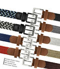 Kyпить 7001G Men's Fabric Leather Elastic Woven Stretch Belt 1-3/8